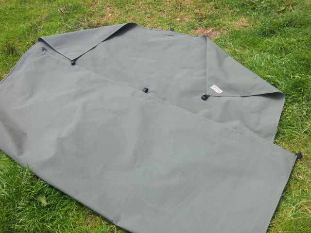 Khaki Green Tarp with Webbing Loops
