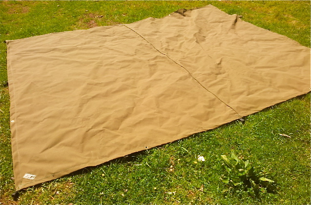 3m x 4m tarp with webbing loops and grommets