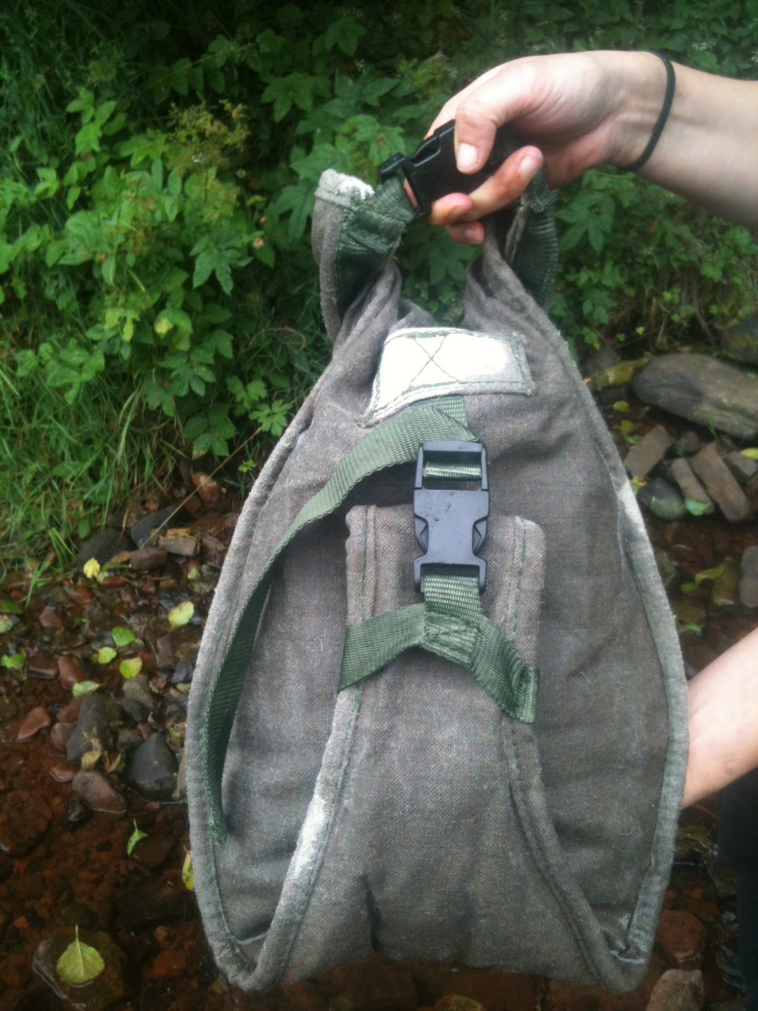 Flax Water Bag, filled