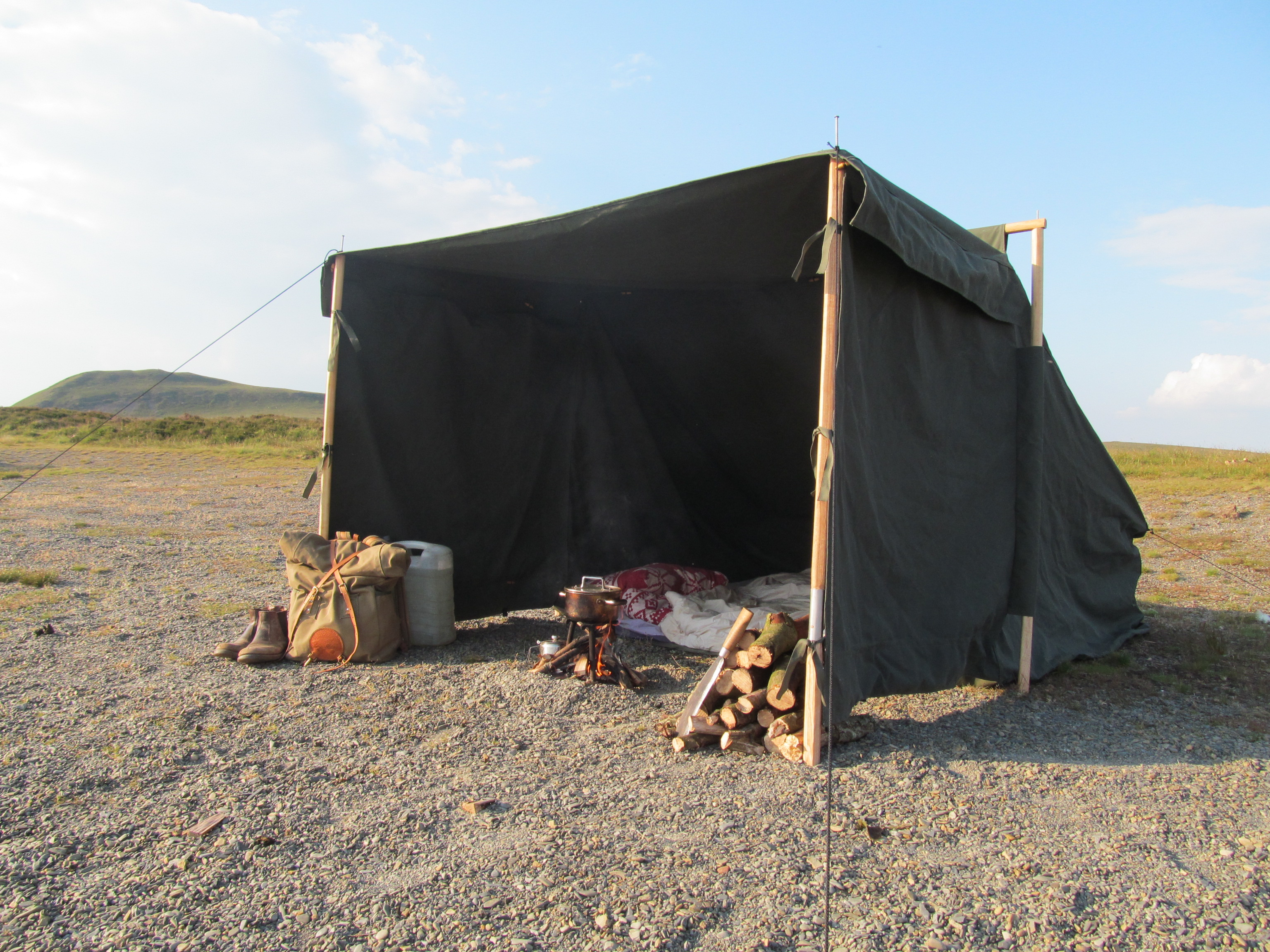 Outdoor Canvas Shelters : Family baker tent wild canvas free in the weaves