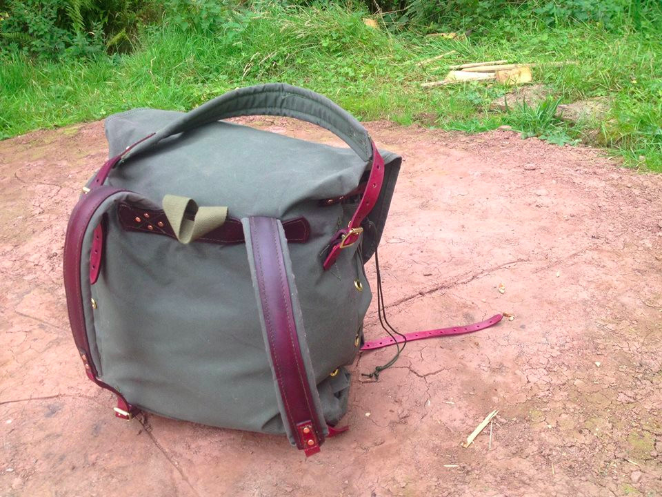 Canoe Pack with Tump-Line back view