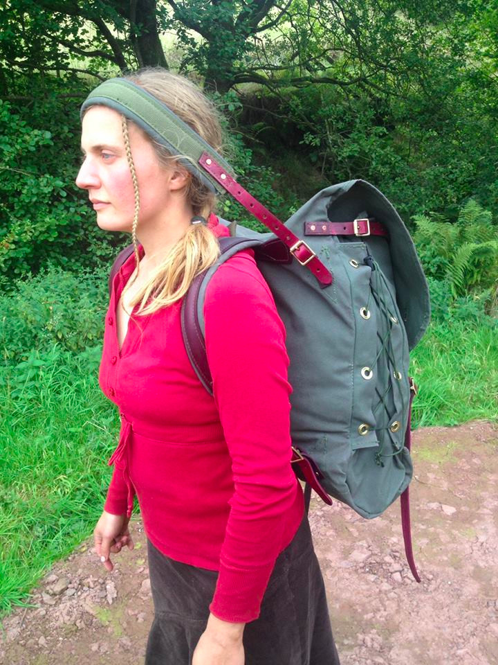 Canoe Pack with Tump Line in use