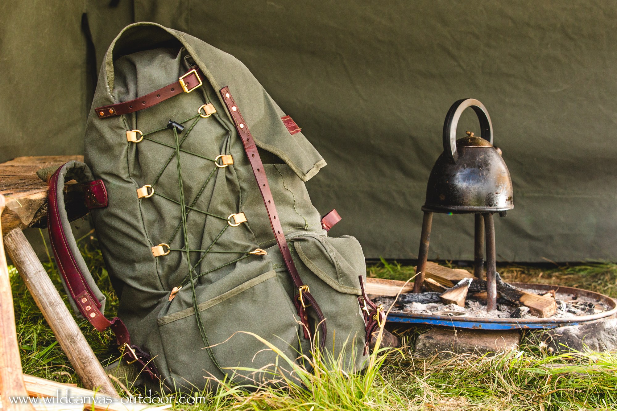 The Ultimate Bushcraft Pack Side View