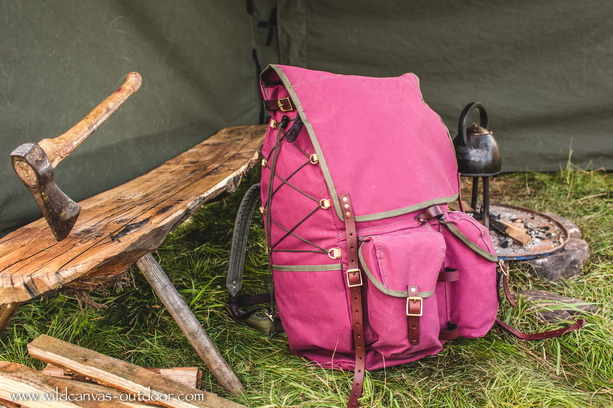 The Ultimate Bushcraft Pack Burgundy