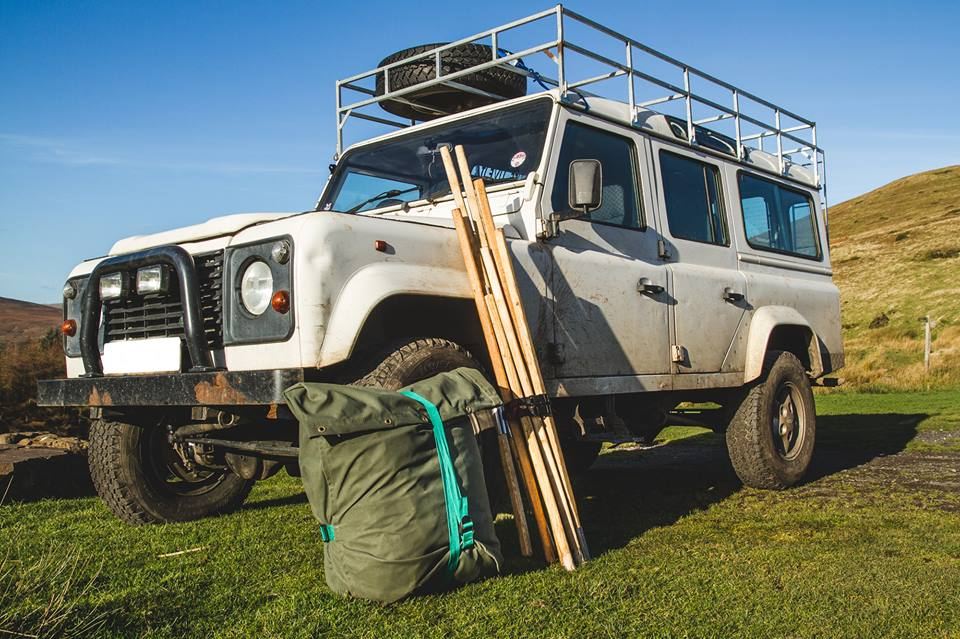 Packing Size & land rover tent | Wild Canvas - free in the weaves