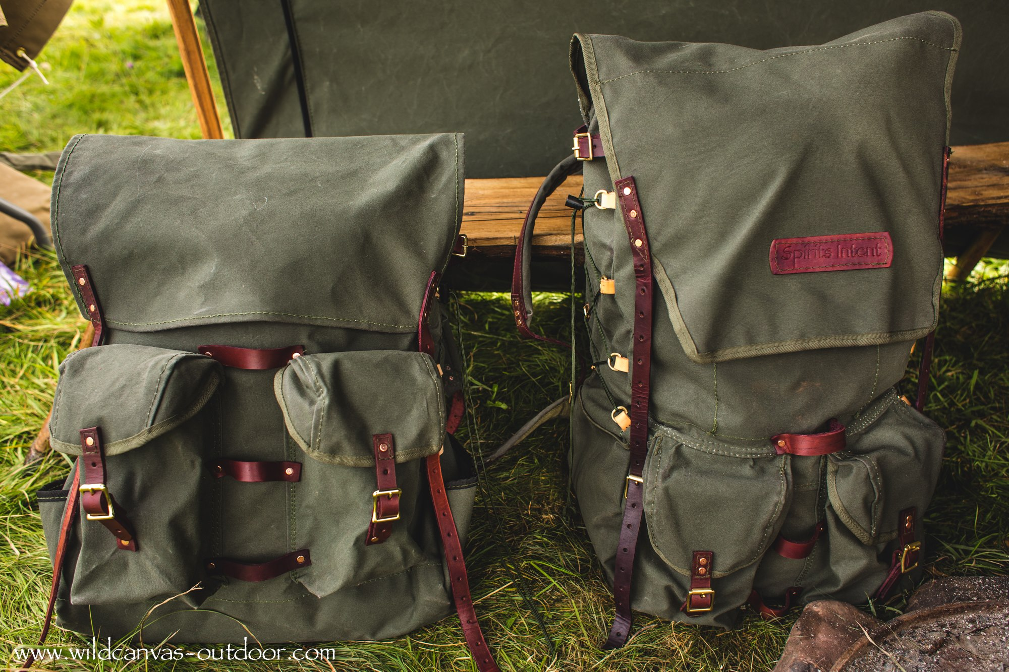 The Ultimate Bushcraft Pack and Basic Bushcraft Pack Front View