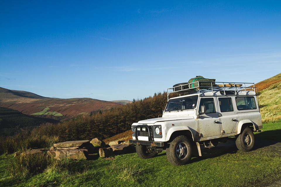 Land Rover Tent on Roof Rack