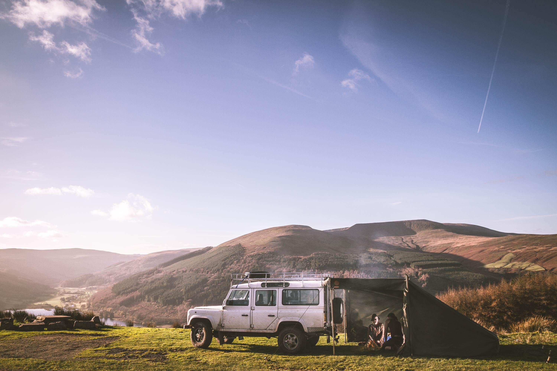 Land Rover Campfire Tent Brecon Beacons